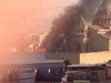 Church Burns In Mosul