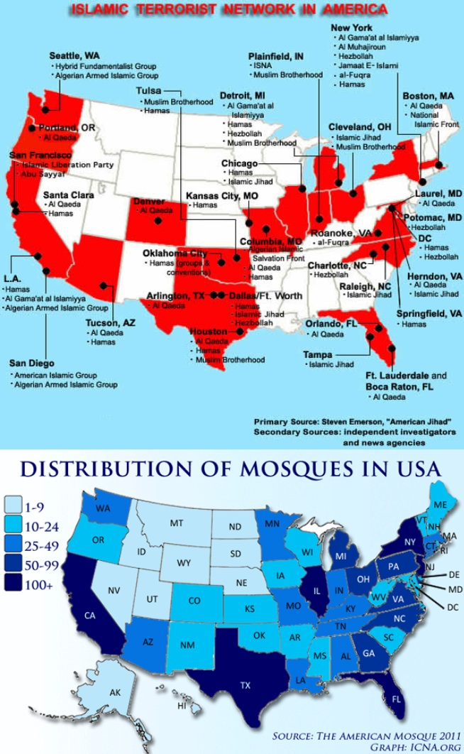 Muslim Map Of America 900.Nearly 70 Muslims Arrested In America For Isis Related Terror Plots